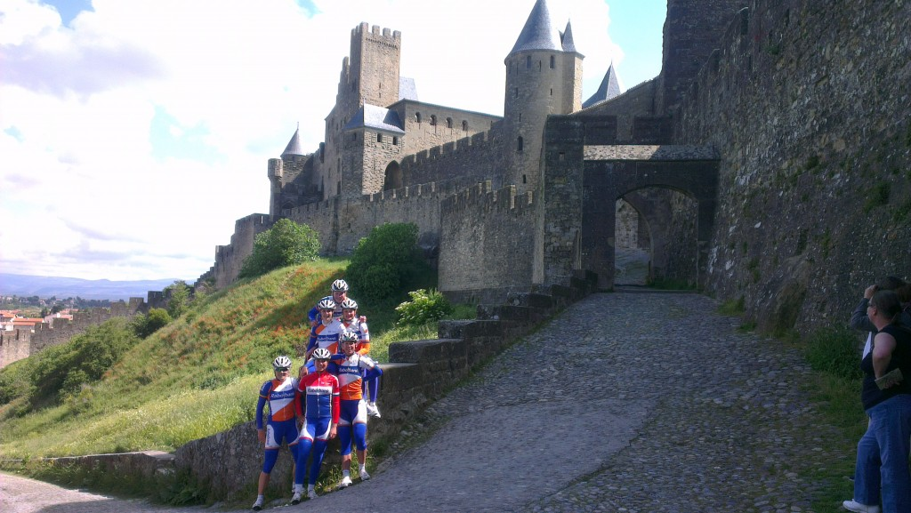 Enige wat leuk was aan onze 'mislukte' trip naar Frankrijk: bezoek aan de Middeleeuwse vesting in Carcassonne