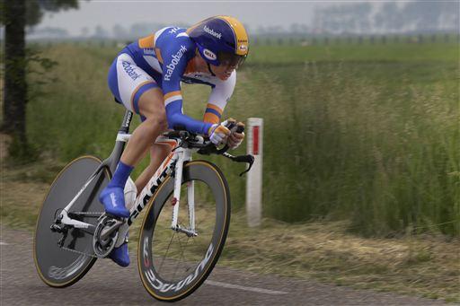NK Tijdrijden in Winsum (foto: Cor Vos)