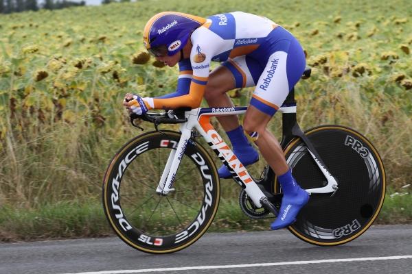 5e plaats in de tijdrit. Fotocredit: Sportfoto.nl